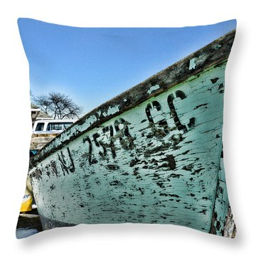Boat - In A State Of Decay Throw Pillow by Paul Ward