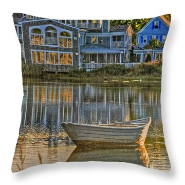 Boat In Late Afternoon Throw Pillow