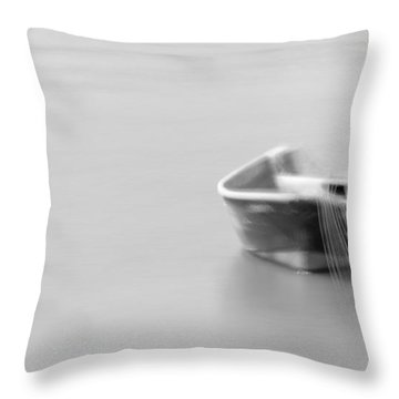 Boat In Water Throw Pillow