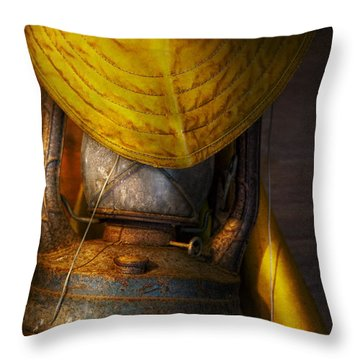 Boat - It Was A Dark And Stormy Night Throw Pillow by Mike Savad