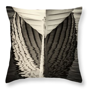 Boat Mirrored Throw Pillow