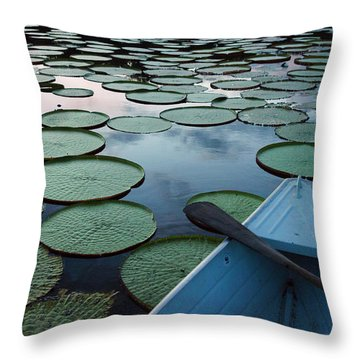 Victoria Amazonica Throw Pillows