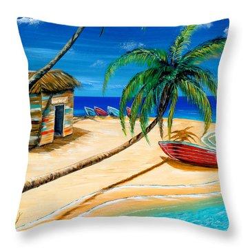 Boat Rent Throw Pillow