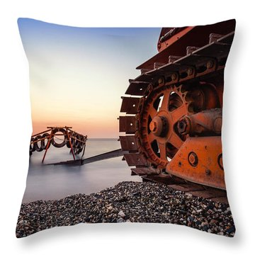 Boat Tractor Throw Pillow