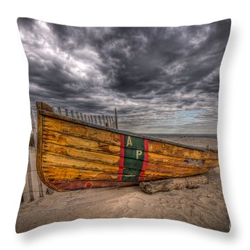 Boat Wreckage Throw Pillow