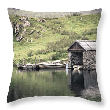 Boathouse Throw Pillow by Jane Rix
