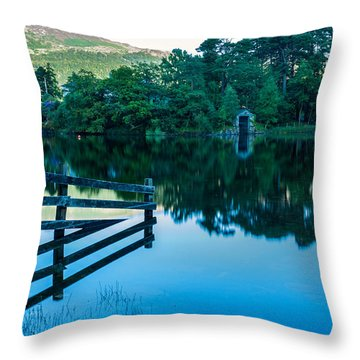 Boathouse On Derwentwater Throw Pillow