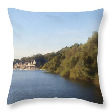 Throw Pillow featuring the photograph Boathouse by Photographic Arts And Design Studio