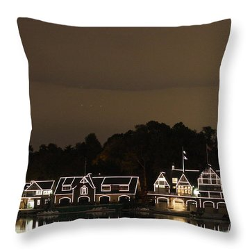 Boathouse Row Throw Pillow by Christopher Woods