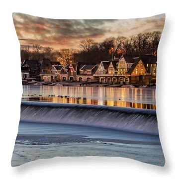 Boathouse Row Philadelphia Pa Throw Pillow by Susan Candelario