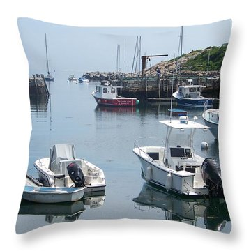 Throw Pillow featuring the photograph Boats On The Water by Eunice Miller