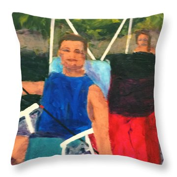 Boating Throw Pillow