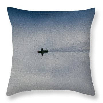 Boating Through The Clouds Throw Pillow by Omaste Witkowski