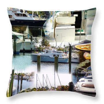 Boats At Rest 1.1 Throw Pillow