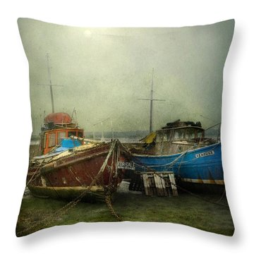 Throw Pillow featuring the photograph Boats For Sale by Brian Tarr