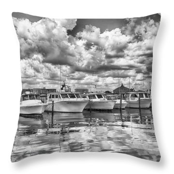 Boats Throw Pillow by Howard Salmon