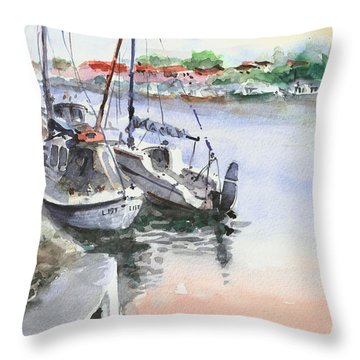 Boats Inshore Throw Pillow