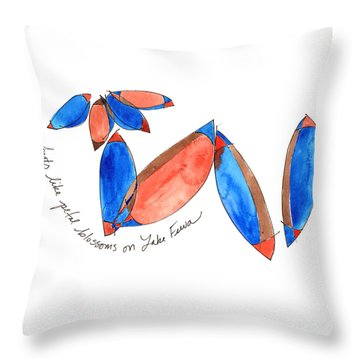 Boats Like Blossoms Throw Pillow
