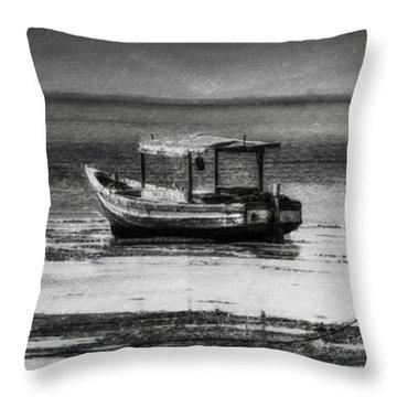 Boats Of Trinidad Throw Pillow