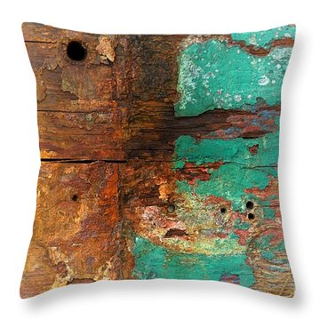 Boatyard Abstract 6 Throw Pillow by Newel Hunter