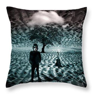 Bob Dylan A Hard Rain's A-gonna Fall Throw Pillow by Mal Bray