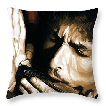 Bob Dylan Artwork 2 Throw Pillow