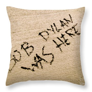 Bob Dylan Graffiti Throw Pillow