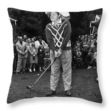 Bob Hope At Bing Crosby National Pro-am Golf Championship  Pebble Beach Circa 1955 Throw Pillow