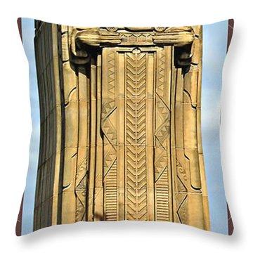 Bob Hope Memorial Bridge Throw Pillow by Joan  Minchak