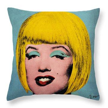 Bob Marilyn  Throw Pillow by Filippo B