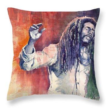 Bob Marley 01 Throw Pillow
