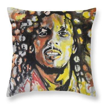 Bob Marley 02 Throw Pillow