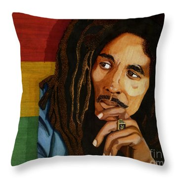 Bob Marley Legend Throw Pillow