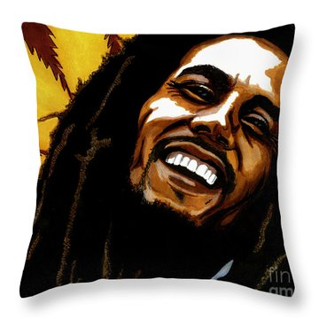 Bob Marley Rastafarian Throw Pillow