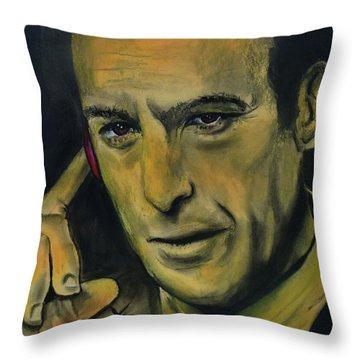 Throw Pillow featuring the drawing Bob Odenkirk - Better Call Saul by Eric Dee