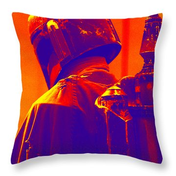 Boba Fett Costume 2 Throw Pillow by Micah May