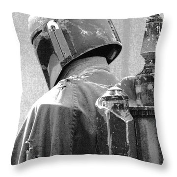 Boba Fett Costume 3 Throw Pillow by Micah May