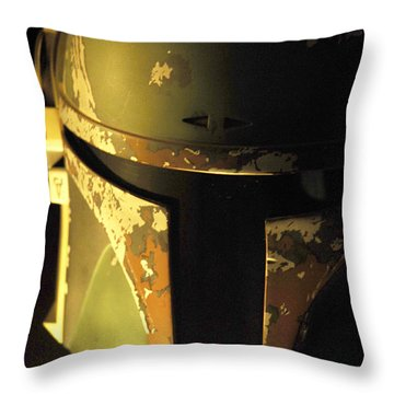 Boba Fett Helmet 124 Throw Pillow