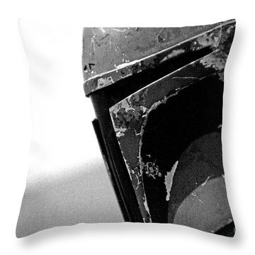 Boba Fett Helmet 24 Throw Pillow