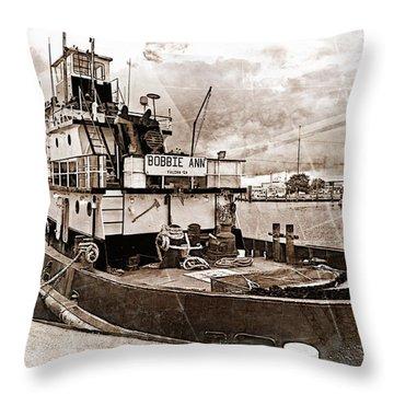 Bobbie Ann Throw Pillow by Suzanne Stout