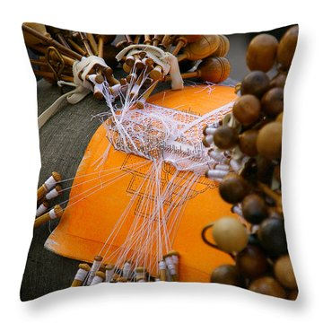 Bobbin Lace Throw Pillow