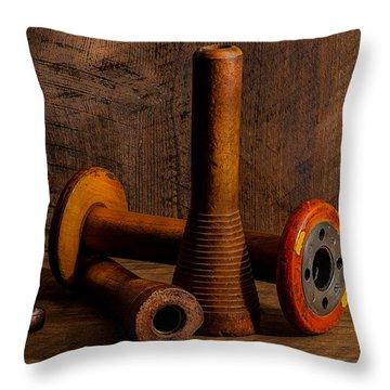 Bobbins And Spools Throw Pillow