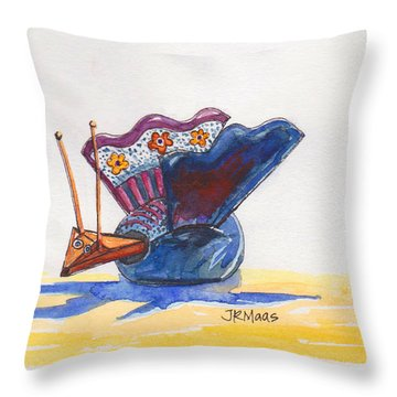 Bobbly Beauty Throw Pillow by Julie Maas