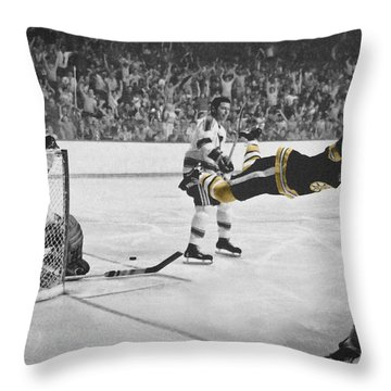 Bobby Orr 2 Throw Pillow by Andrew Fare