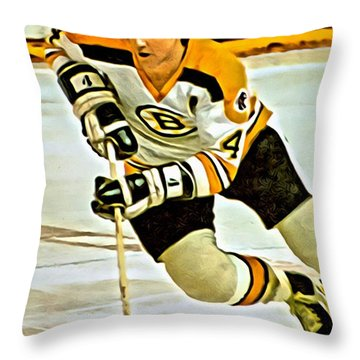 Bobby Orr Throw Pillow