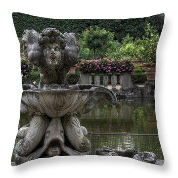 Boboli Fountain Throw Pillow