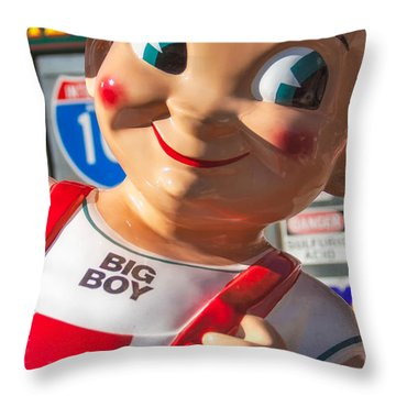 Bob's Big Boy Throw Pillow