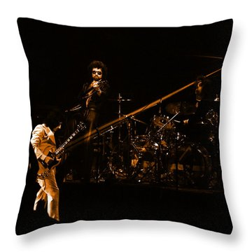 Boc #4 Lasers In Amber Throw Pillow