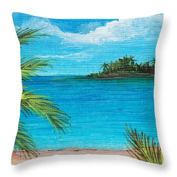 Boca Chica Beach Throw Pillow by Anastasiya Malakhova