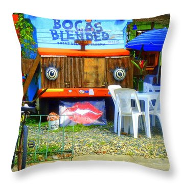 Bocas Blended Throw Pillow by Kris Hiemstra